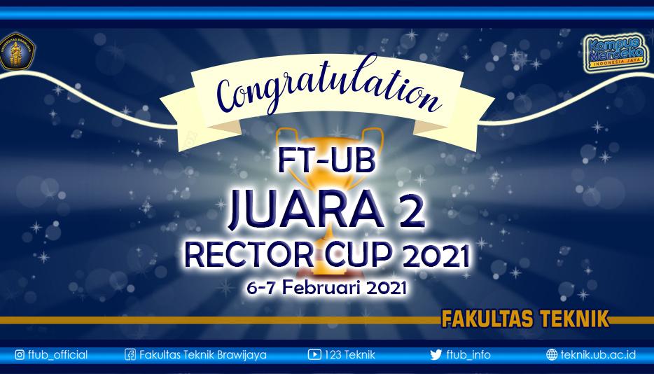 Fakultas Teknik Juara 2 Rector Cup 2021