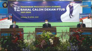 Pemaparan Program Kerja Bakal Calon Dekan FTUB Periode 2021-2025