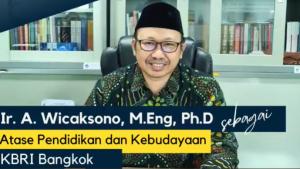 Akhmad Wicaksono Jabat Atase Pendidikan dan Kebudayaan KBRI Bangkok
